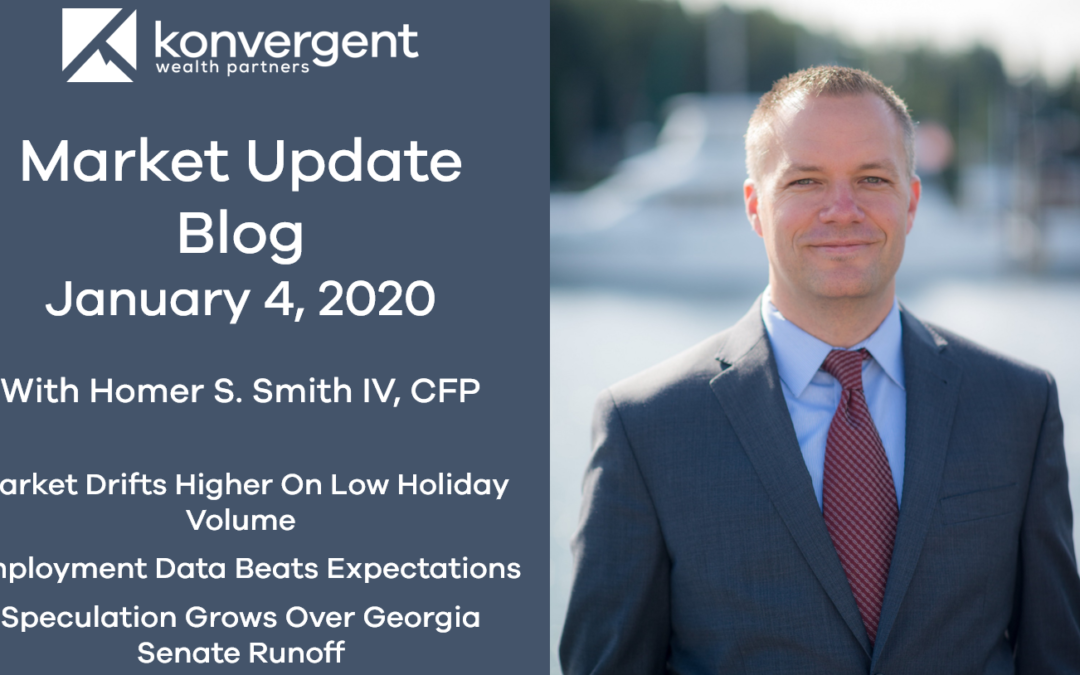Week of January 4th Blog – Market Gains Ground as Investors Celebrate the New Year